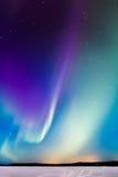 Les aurores au-dessus du lac Images libres de droits