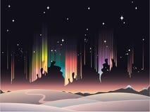 Borealis van de dageraad Stock Afbeelding