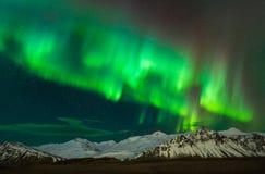 Borealist de l'aurore en Islande du sud images stock