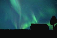 Boreas de la aurora en el norte fotografía de archivo