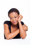 Bored african woman Royalty Free Stock Photo
