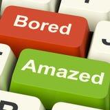 Bored Amazed Keys Shows Boredom Or Amaze. Bored Amazed Keys Showing Boredom Or Amaze Reaction Stock Photo