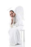 Bored angel Royalty Free Stock Photo