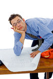 Bored architect Stock Image