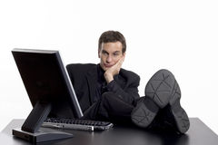 Bored At Work Royalty Free Stock Photo