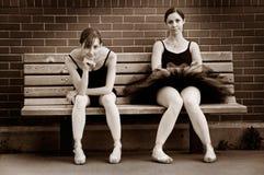 Bored Ballerina's Stock Foto