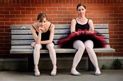 Bored Ballerina's Stock Foto's