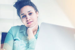 Bored black woman portrait Stock Photography