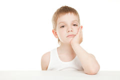 Bored boy royalty free stock photography