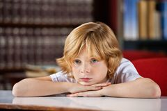 Bored Boy Looking Away Royalty Free Stock Photography