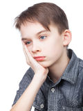 Bored boy Stock Images