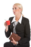 Bored business woman. Attractive young businesswoman sitting and waiting, obviously annoyed Stock Photo