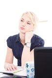 Bored business woman Royalty Free Stock Photo