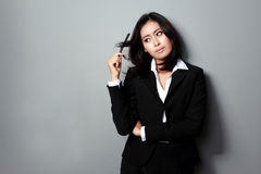 Bored business woman Royalty Free Stock Image