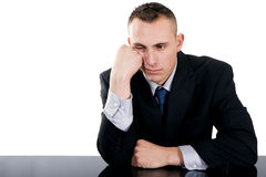Bored Businessman Royalty Free Stock Photography