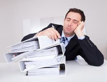 Bored Businessman Royalty Free Stock Images