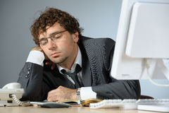 Bored businessman royalty free stock image