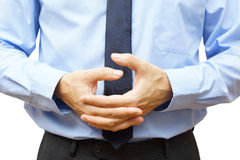 Bored businessman rotates the fingers Stock Image