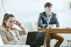 Bored businesspeople at work Royalty Free Stock Photography