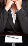 Bored Businesswoman Royalty Free Stock Photography