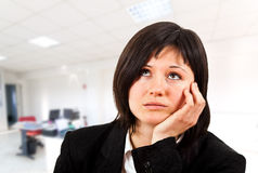 Bored businesswoman Royalty Free Stock Photos