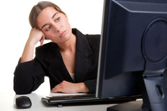 Bored Businesswoman Royalty Free Stock Images