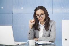 Bored Businesswoman Stock Image