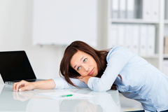 Bored businesswoman Stock Photo