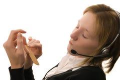 Free Bored Call Center Operator Royalty Free Stock Photos - 3475568