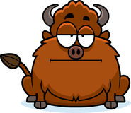 Bored Cartoon Bison Stock Photography