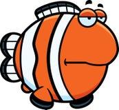 Bored Cartoon Clownfish Royalty Free Stock Photography