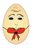 Bored cartoon egg Royalty Free Stock Photography