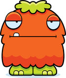 Bored Cartoon Fluffy Monster Stock Photos