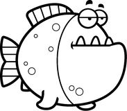 Bored Cartoon Piranha Stock Photo