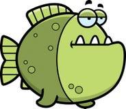 Bored Cartoon Piranha Stock Photography