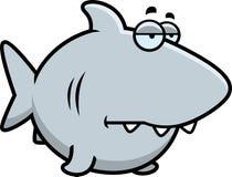 Bored Cartoon Shark Royalty Free Stock Photos