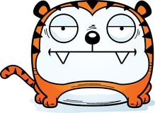 Bored Cartoon Tiger. A cartoon illustration of a tiger looking bored stock illustration