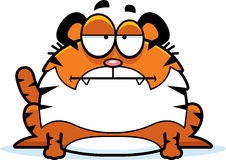 Bored Cartoon Tiger. A cartoon illustration of a tiger looking bored royalty free illustration