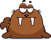 Bored Cartoon Walrus Royalty Free Stock Images