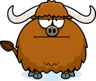 Bored Cartoon Yak. A cartoon illustration of a yak looking bored vector illustration