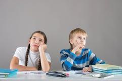 Bored children Stock Photo