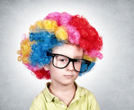 Bored clown Royalty Free Stock Image