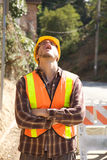 Bored Construction Worker stock photos