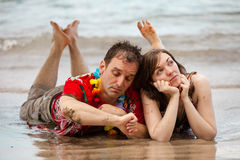 Bored Couple in Paradise Royalty Free Stock Images