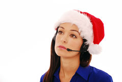 Bored customer service worker Royalty Free Stock Photos