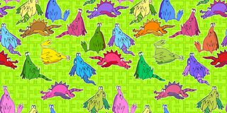 Bored dragons wallpaper Royalty Free Stock Photos