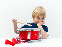 Bored drummer Stock Image