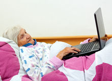 Bored elderly Royalty Free Stock Images