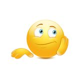 Bored emoticon Royalty Free Stock Images