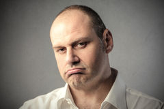 Bored face. Portrait of man with bored face expression Royalty Free Stock Photos